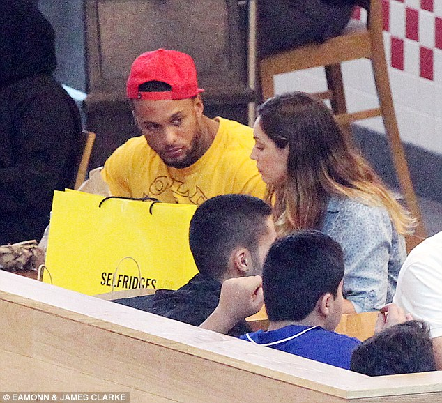 Treat: The couple enjoyed a Burger King meal in between some retail therapy