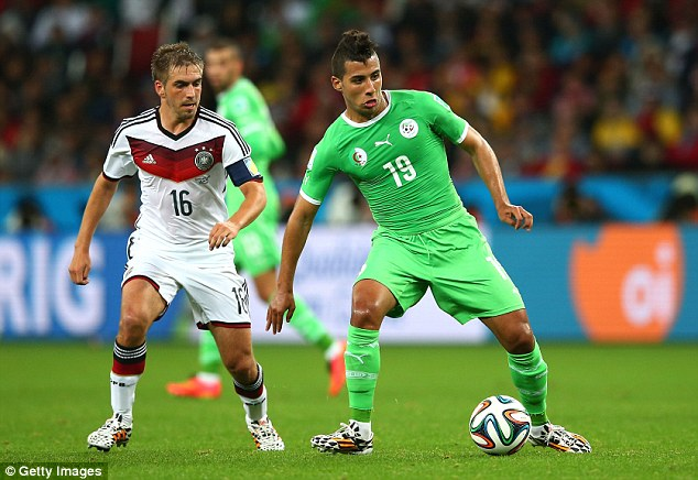Potential: Taider was part of Algeria's World Cup squad that made the last 16, eventually losing to Germany