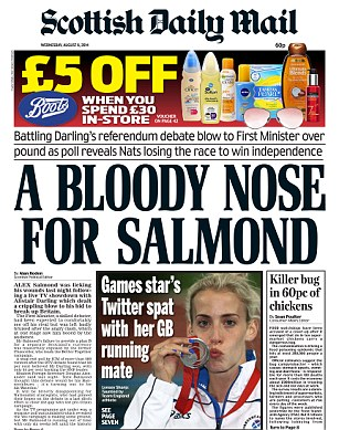 The Scottish Daily Mail yesterday