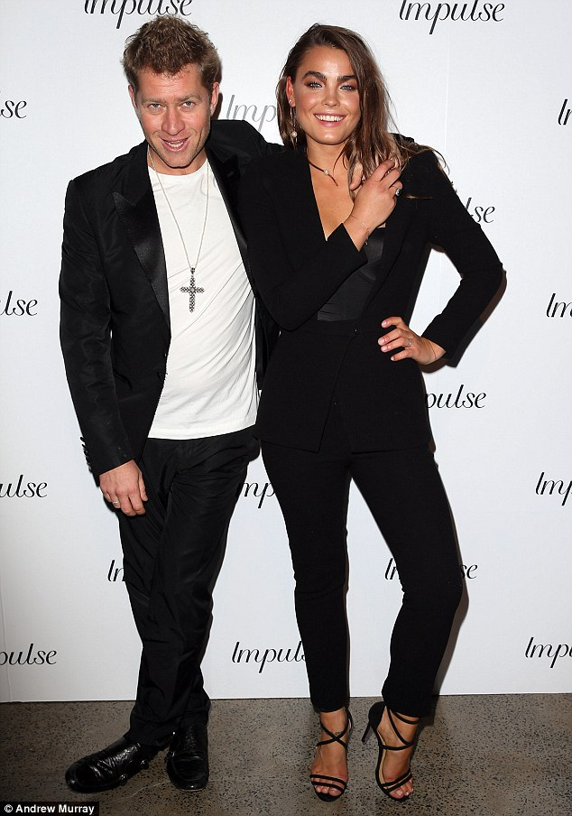 Similar taste: One half of Bondi's coolest glamour couple, Dan Single, has revealed to Daily Mail Australia that he and his new bride Steph 'Bambi' Northwood-Blyth share the same perfume