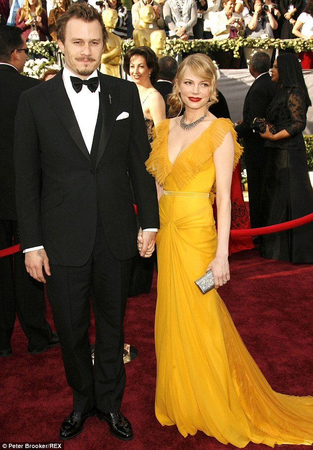 Former partner: Heath with his ex wife, Golden Globe winning actress Williams in 2006