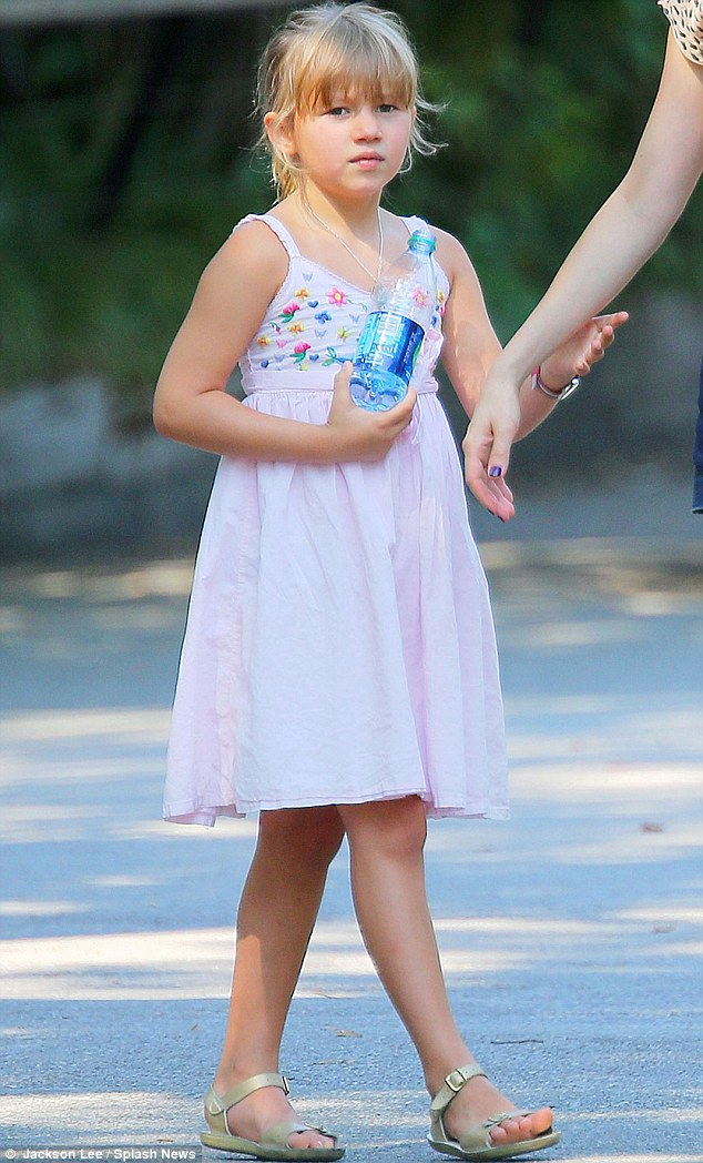 Tiny dancer: 'She even dances like her dad did when he was eight or nine,' Kim said proudly