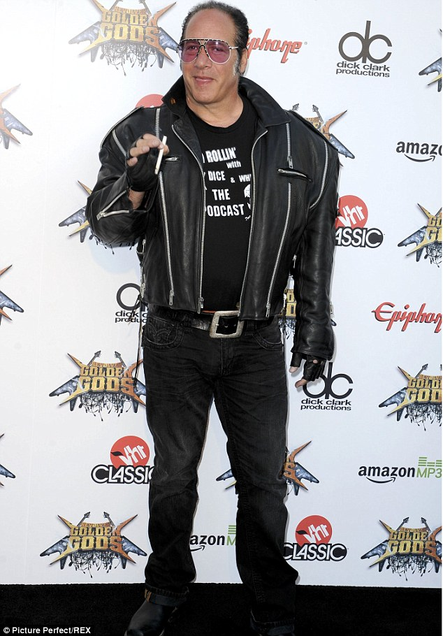 Controversial comedian: Stand-up comic and actor Andrew Dice Clay is famous for being a controversial figure, so his TV outburst is no surprise