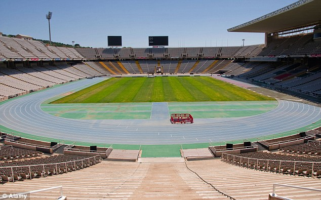 Regeneration: The park is planned for Barcelona's 'neglected' Olympic venues