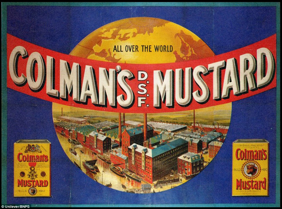 Staple: A 1905 Colman's Mustard advert featuring the massive Carrow Road works. Colman's is celebrating its 200th anniversary