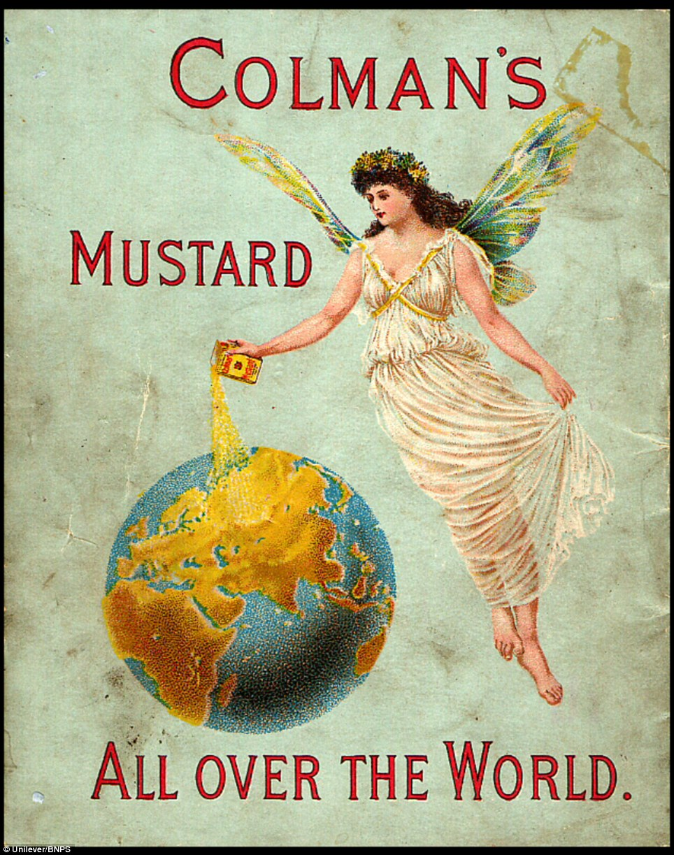 International: An 1895 advert showing the worldwide reach of the Colman's Mustard brand which turns 200 this year