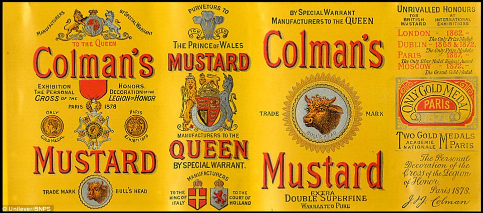 An 1884 Victorian label: A staple of the British kitchen is celebrating its anniversary this year. Archivist's research reveals the 200 year history of Colmans Mustard