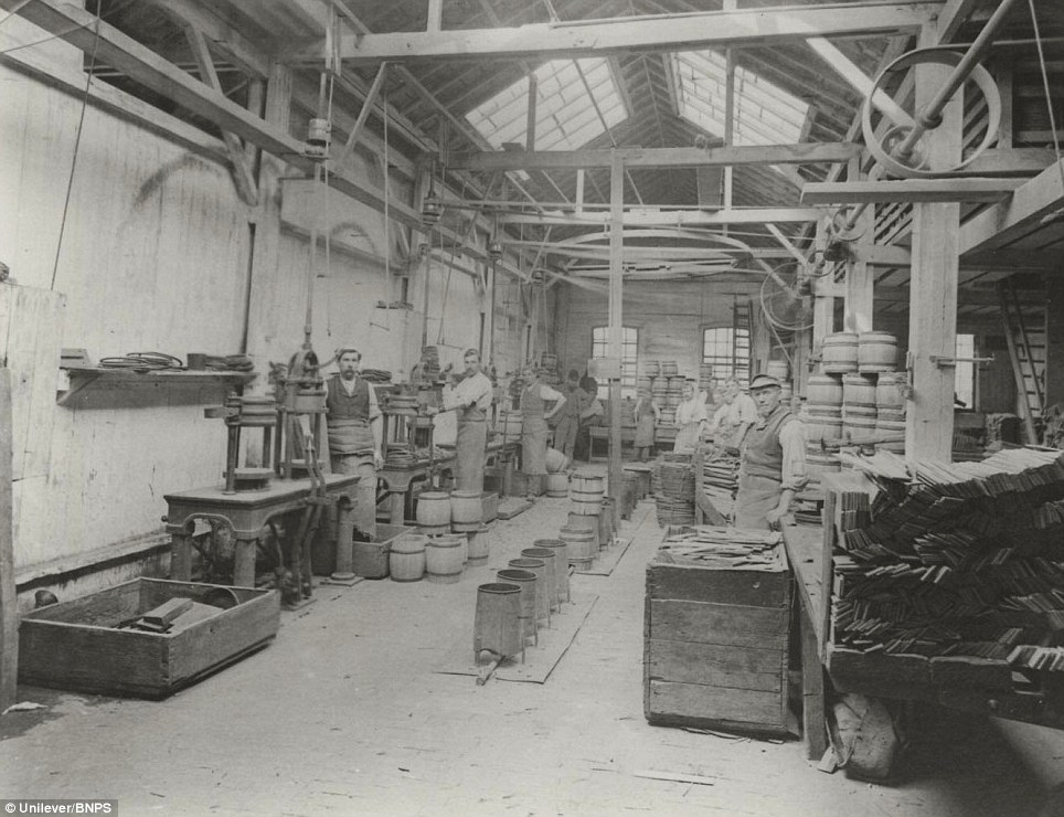 Making mustard casks in Victorian times: Founded in Norwich in 1814 by Jeremiah Colman, the super hot condiment made from Norfolk mustard seeds soon become a family favourite at dinner tables