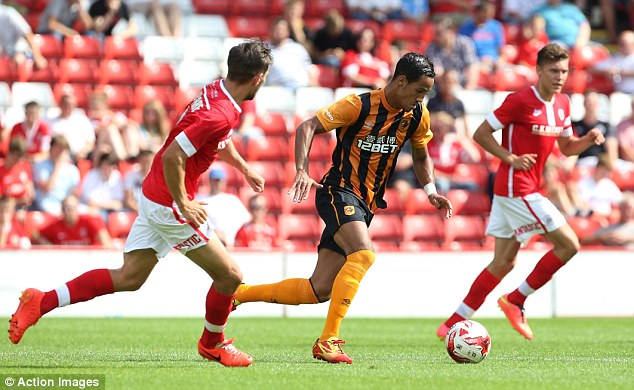 New boy: Tom Ince could be in line for his full debut as Hull attempt to get past AS Trencin