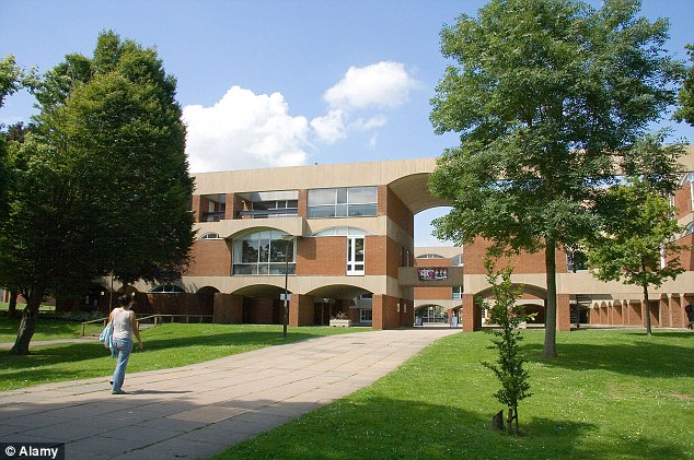 The Falmer House building, on the Falmer Campus at the University of Sussex, from where part of a sex ring involving more than 50 women from eastern Europe was based