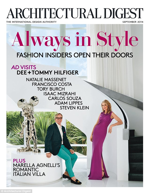 Cover stars! The Hilfigers made the cover of the latest issue of Architectural Digest
