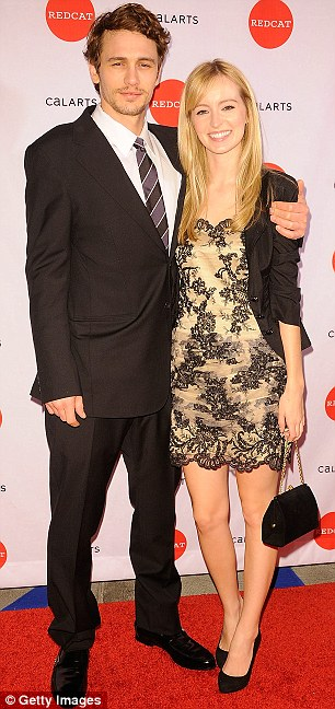 Split: James and girlfriend Ahna O'Reilly, pictured in March 2010, broke up a year later