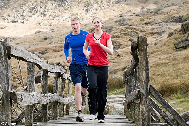 Fast track to a break up? Couples who exercise together in a bid to lose weight don't always stay together according to research (posed by models)