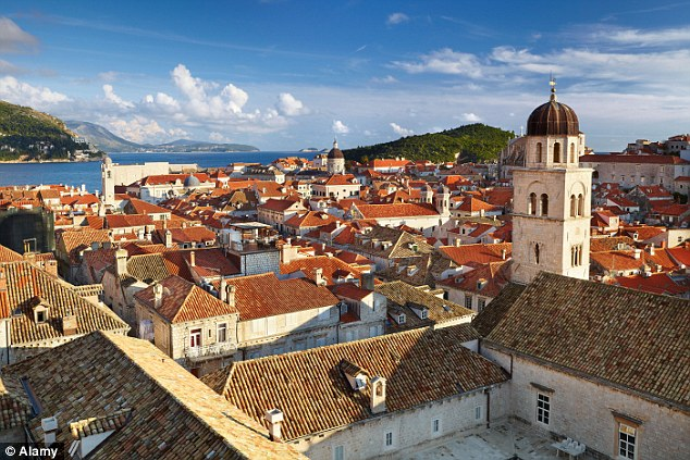 Police chase: The four naked tourists were pursued by 30 officers around Dubrovnik (pictured)