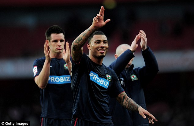 History man: Colin Kazim-Richards (pictured for Blackburn) was signed by Brighton for £250,000 from Bury
