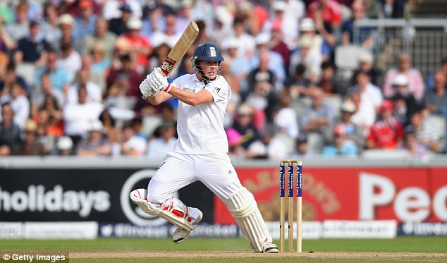 Impressive start: England batsman Gary Ballance cuts a ball to the boundary during day one of the fourth Test