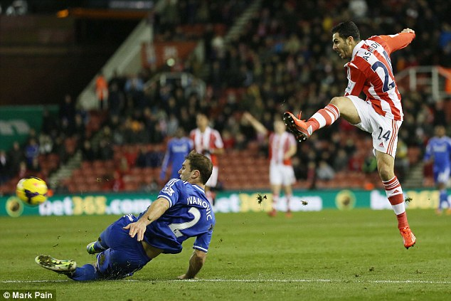 Loan ranger: Oussama Assaidi impressed at Stoke last season but the Potters aren't keen on permanent deal