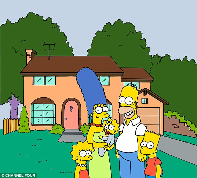 The pictures included sex scenes between relatives from cartoons such as The Simpsons