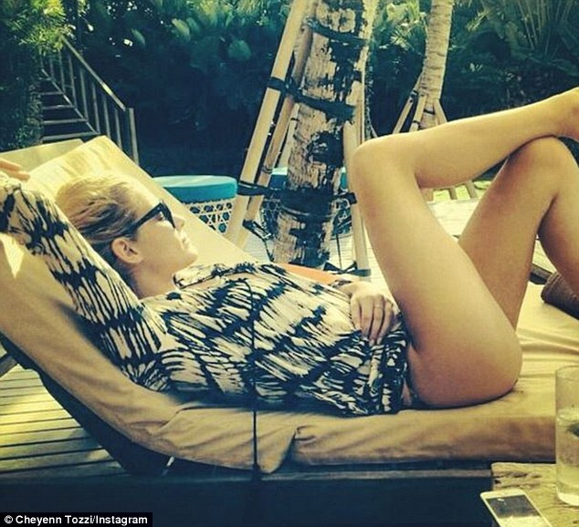 Rest and relaxation: It seems the busy model and musician was in desperate need of a vacation as she earlier posted a picture on Instagram in which she is seen reclining on a sun lounger, writing 'I need this'