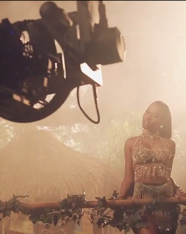 Working it: Her backstage video has already had more than 250,000 hits online