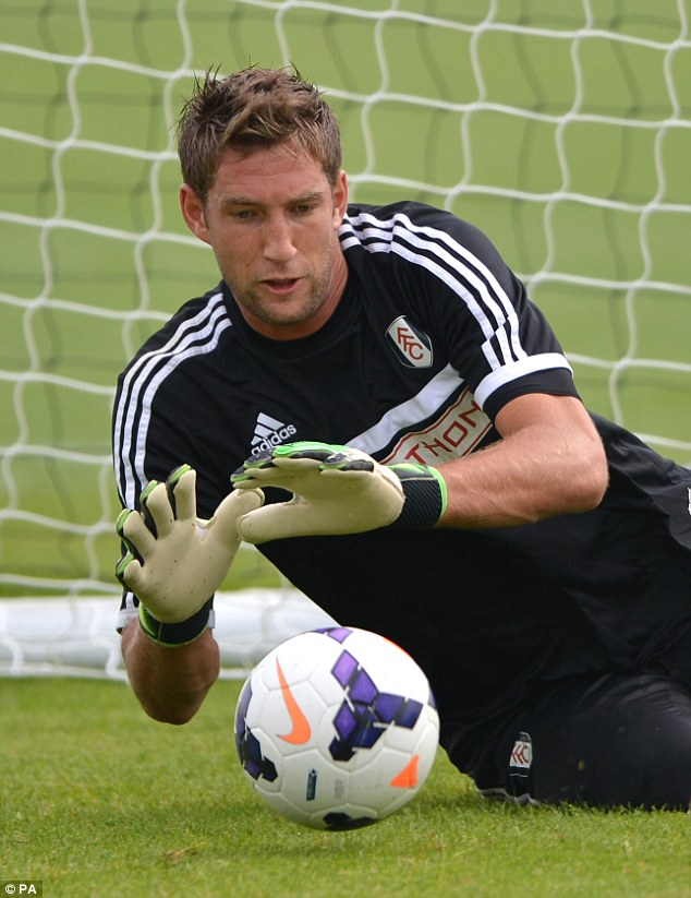 Wants out: Stekelenburg, who signed for Fulham last summer to play Premier League football, wants to leave