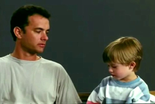 Throwback: A young Haley Joel Osmont was also seen in the newly revealed footage