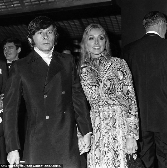 Hollywood clique: Actress Sharon Tate, pictured in 1965 with her director husband Roman Polanski, was close friends with 19-year-old Roosevelt in 1969