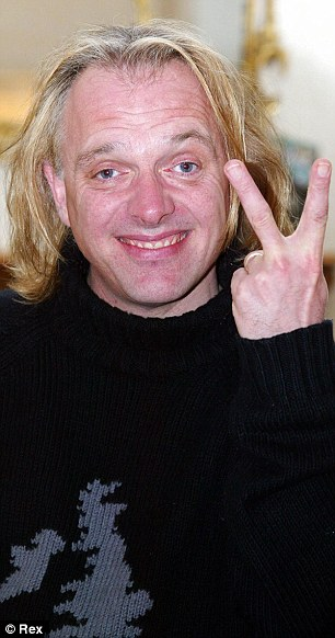 Signature pose: The Young Ones star was renowned for his cheeky salute