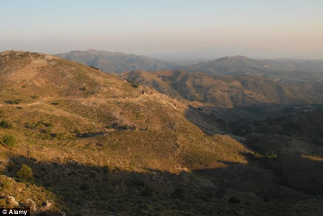 Experienced walker: Grandfather Arthur Jones was last seen setting off into the mountains near Chania, pictured. His son said that it is presumed that he was dehydrated and suffered heat exhaustion