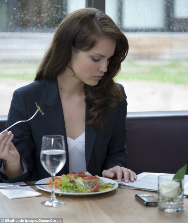 Lone munching: NDP research found that many of us are frequently dining alone, perhaps in part because almost a third of all U.S. households are now one-person homes