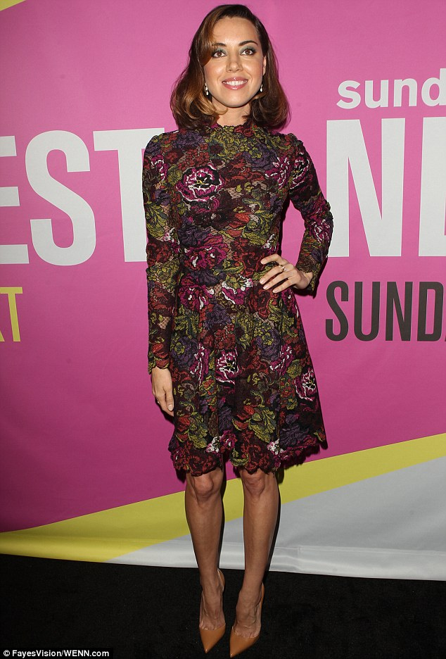 Designer dream: Aubrey Plaza wore a stunning Valentino dress to the Sundance NEXT FEST screening of her film Life After Beth in LA on Friday