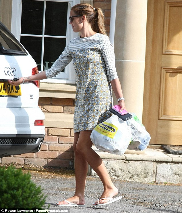 Back with a bang: Danielle O'Hara was seen returning to her marital home this week following ehr rbeak in Dubai