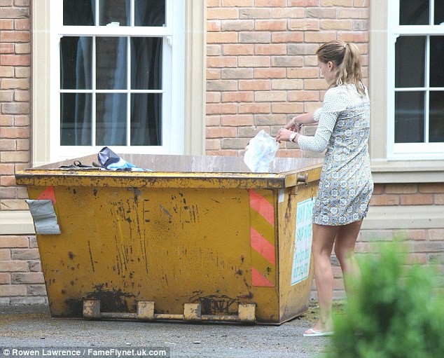 Flying solo? She tweeted a poignant message on Sunday morning after throwing away a number of items