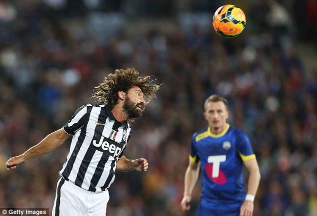 Famous faces: The Italians fielded an expreienced side, including playmaker Andrea Pirlo