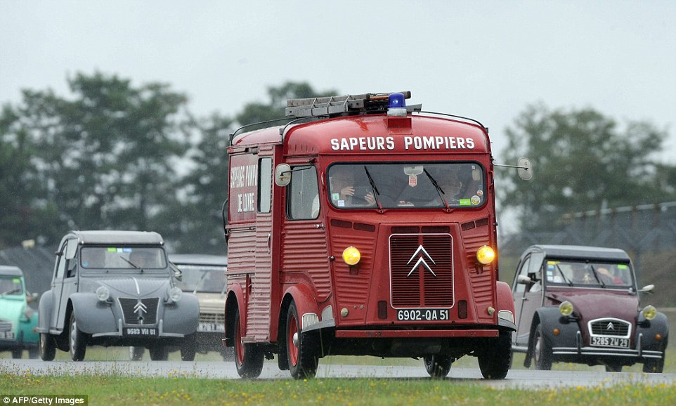 The Citroen H van was developed as a simple front wheel driven van after World War II. Pictured is one used by French firefighters, now in the hands of a private collector