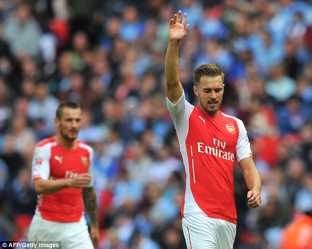 Confident of progress: Ramsey is happy with what he is seeing with Arsenal in good form
