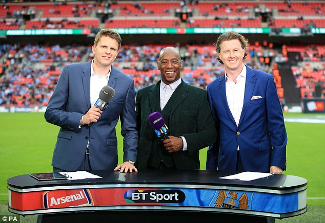 Table top: BT Sport's pitchside reporting looked a little strange with their tiny table on the touchline