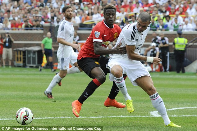 Out of the team: Wilfried Zaha has struggled at Old Trafford since making his big-money move