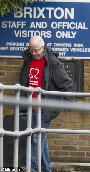 Shamed: The former Labour Party politician pictured leaving Brixton Prison in London after serving his sentence for submitting 19 false expenses