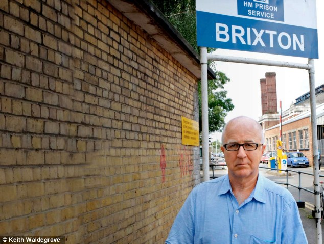 'Squalid': Former MP Denis MacShane outside Brixton prison, where he spent most of his time in his cell