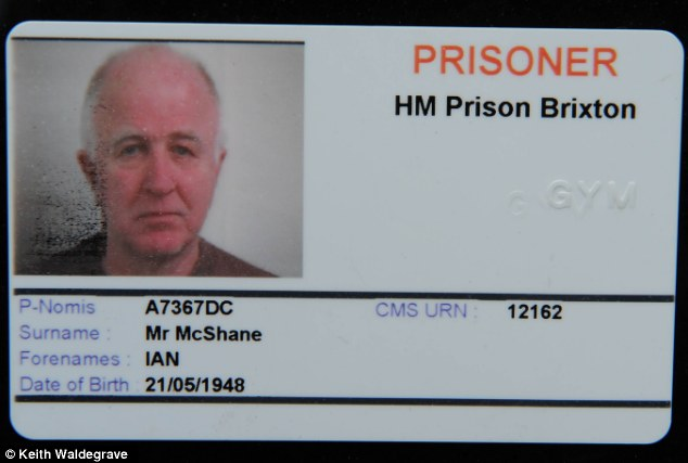 Wrong name: Denis MacShane's 'Ian' prison card, one of many times he was mistaken for the famous actor