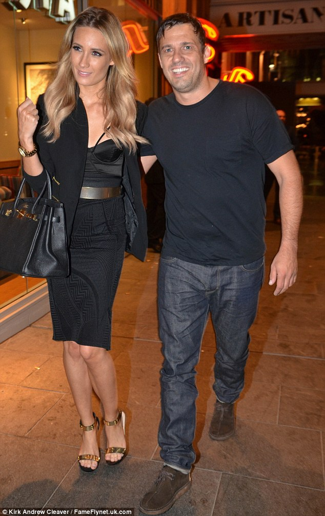 Still going strong: Jamie Lomas was seen out with girlfriend Chloe Peers in Manchester on Saturday evening