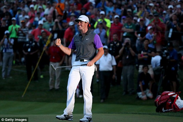 The final shot: Rory McIlroy has won the 96th USPGA Championship after a final round of 68