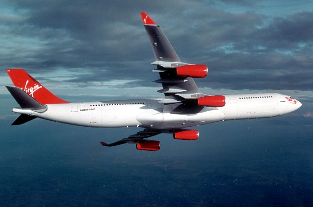 Flight VS201, an Airbus A340 destined forLondon's Heathrow, was forced to turn back to Hong Kong International Airport after the 26-year-old man, identified only as 'Robert', became disruptive (file picture)