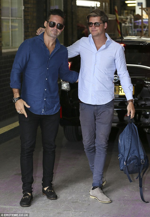 Lads on tour: Fresh from their trip to New York City, the boys Spencer Matthews and Stevie Johnson looked like good pals despite their competition for a girl in the first episode of the new series
