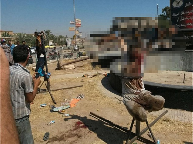 Islamic State fighters crucified two Syrian tribesmen as they fled to a nearby village called Shaafa, while 23 others have been executed