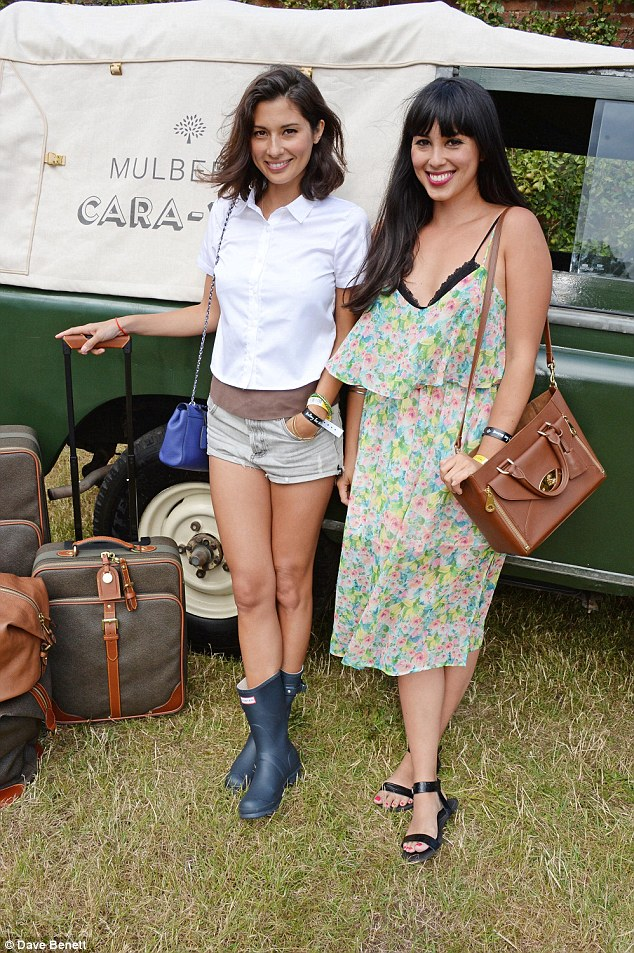 Look who it is! Jasmine and Melissa Hemsley, the famous healthy chefs, also put in an appearance