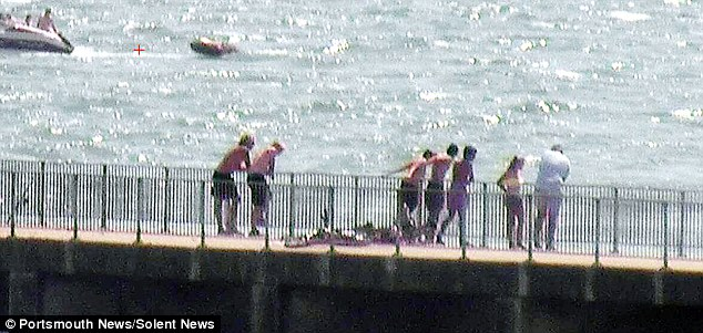 Portsmouth councillor Neil Young said youngsters were risking life and limb by tombstoning from the pier