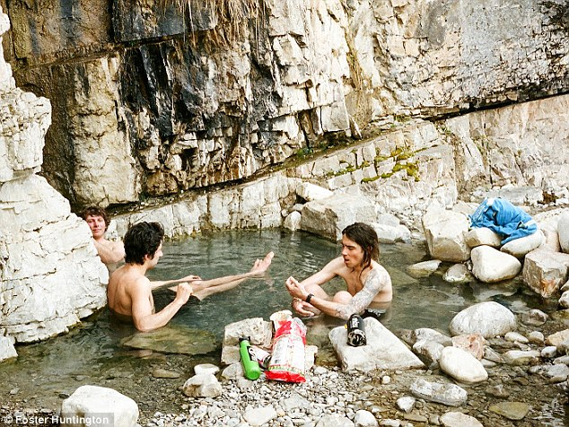 Who needs a shower when you have a hot spring?