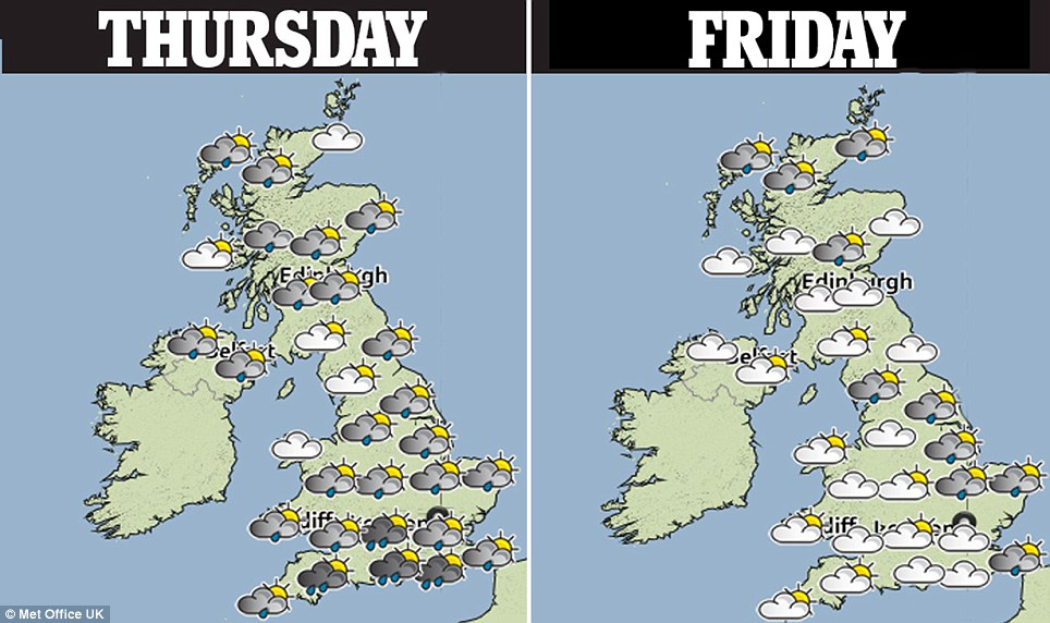 Forecasters say the rain could ease off towards the tail end of the week - but that rain is still expected until the weekend